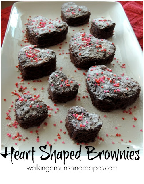 Heart Shaped Brownies from Walking on Sunshine.