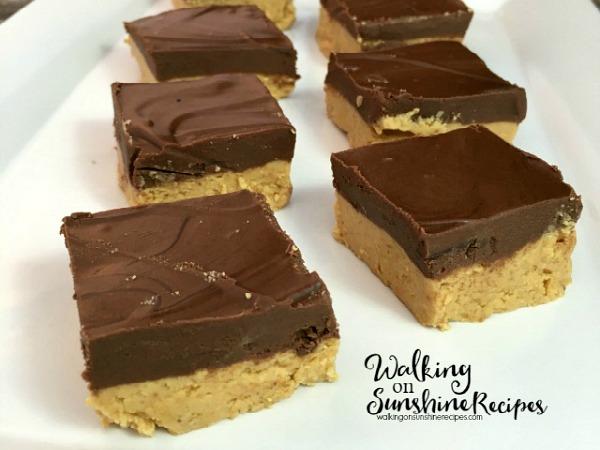 No Bake Homemade Peanut Butter Bars