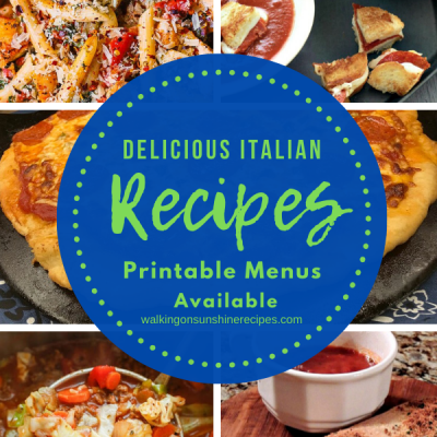 Weekly Meal Plan – Italian Recipes for Dinner