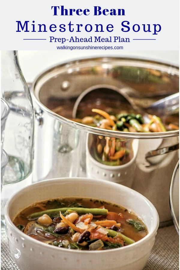 Three bean minestrone soup recipe