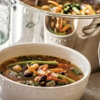 Three Bean Minestrone Soup Recipe and Cookbook Review