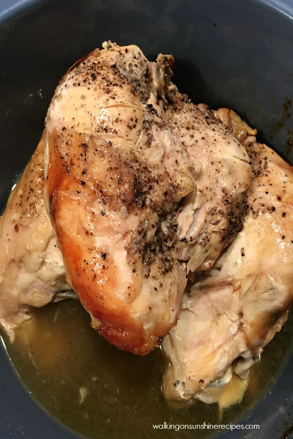 Chicken cooked in the crock pot