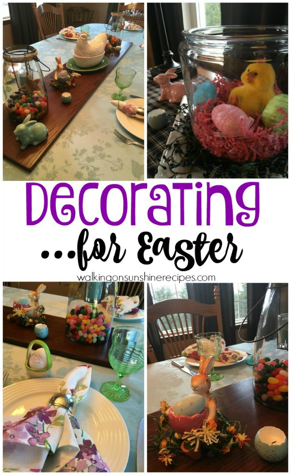 Preparing for Easter and Setting the Table from Walking on Sunshine.