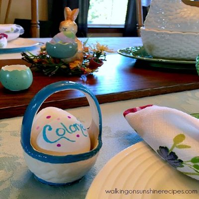 How to Make Easter Egg Place Cards