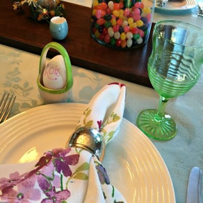 Preparing for Easter and Setting a Pretty Table