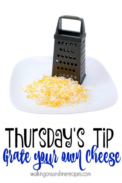 How to grate your own cheese for this week's Thursday's Tip plus a great magazine for the cook in your life!