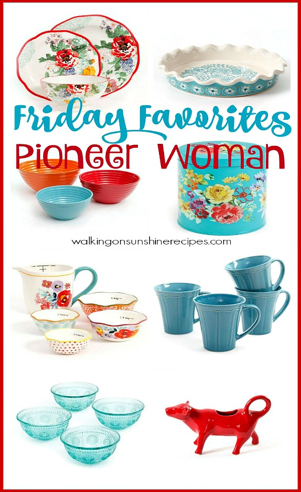 Decorating with Pioneer Woman Housewares Essentials from Walking on Sunshine.