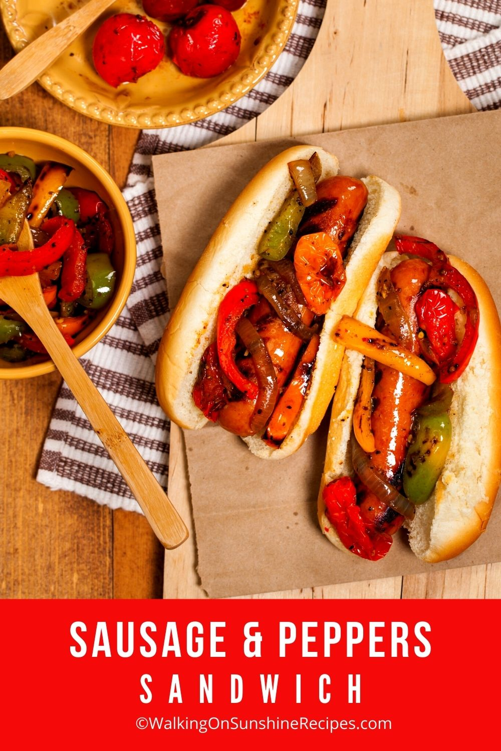Sausage and Peppers Sandwich.
