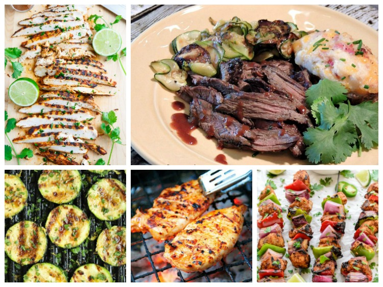 Grilled Recipes Weekly Meal Plan from Walking on Sunshine Recipes
