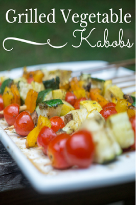 Grilled Vegetable Kabobs from Divas Run for Bling featured on Walking on Sunshine Recipes