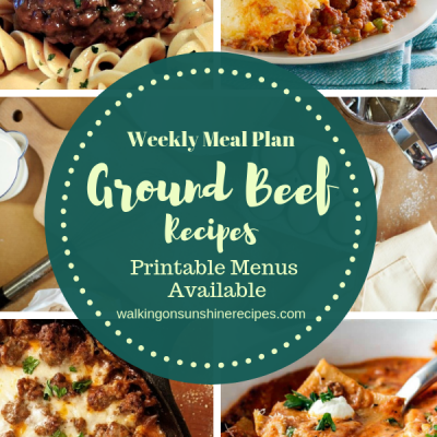 Meal Plan #18 – Ground Beef Recipes