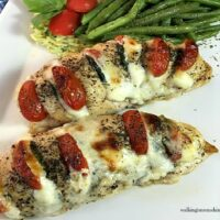 Hasselback Chicken Stuffed with Mozzarella, Tomato and Basil