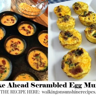 Scrambled Egg Breakfast Muffins with Bacon and Cheese