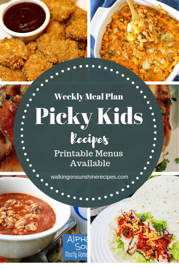 Picky Eaters Recipes that even the pickiest of kids will enjoy this week