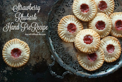 Strawberry Rhubarb Hand Pies from Ann's Entitled Life featured on Walking on Sunshine Recipes