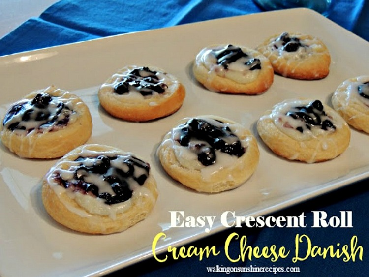 Blueberry Cream Cheese Danish is an easy recipe to make for breakfast this weekend!