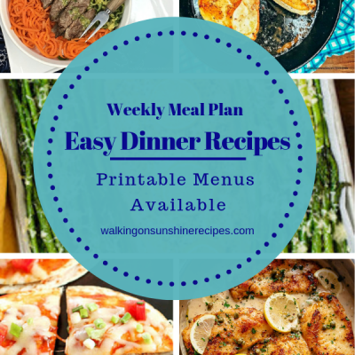 Weekly Meal Plan – 5 Easy Dinner Recipes