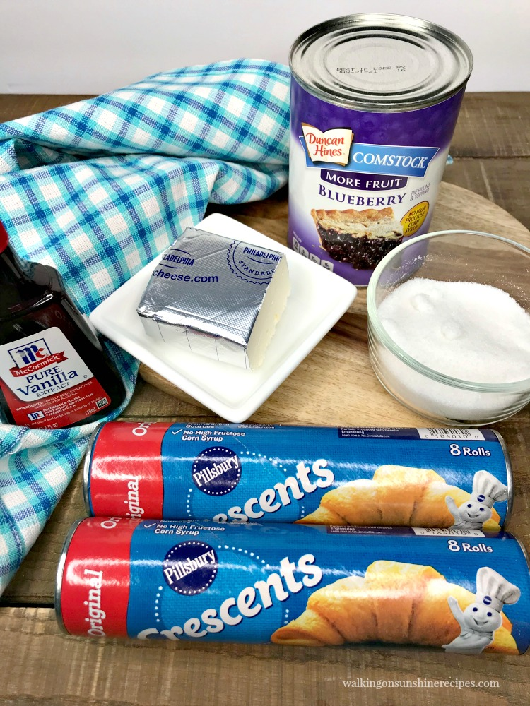 Ingredients for blueberry danish