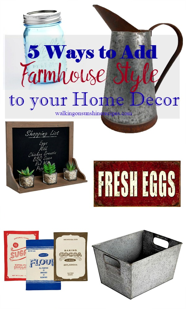 5 Easy Ways To Add Farmhouse Style Your Home Decor Walking On Rhwalkingonsunshinerecipes: Add On Items Home Decor At Home Improvement Advice