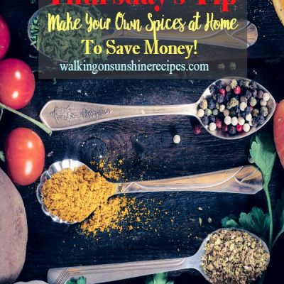 How to Make Your Own Spices to Save Money