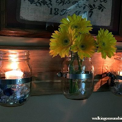 How to Make a Mason Jar Wall Organizer