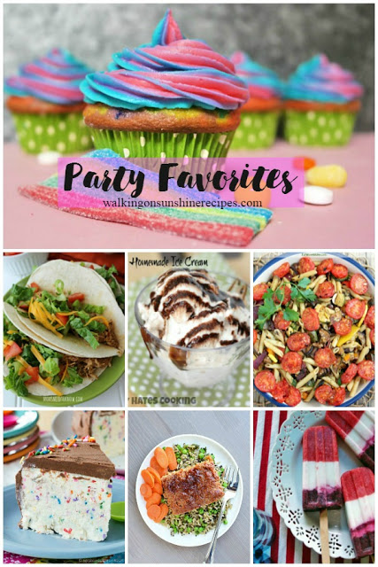 Here are the party favorites featured on Walking on Sunshine Recipes.