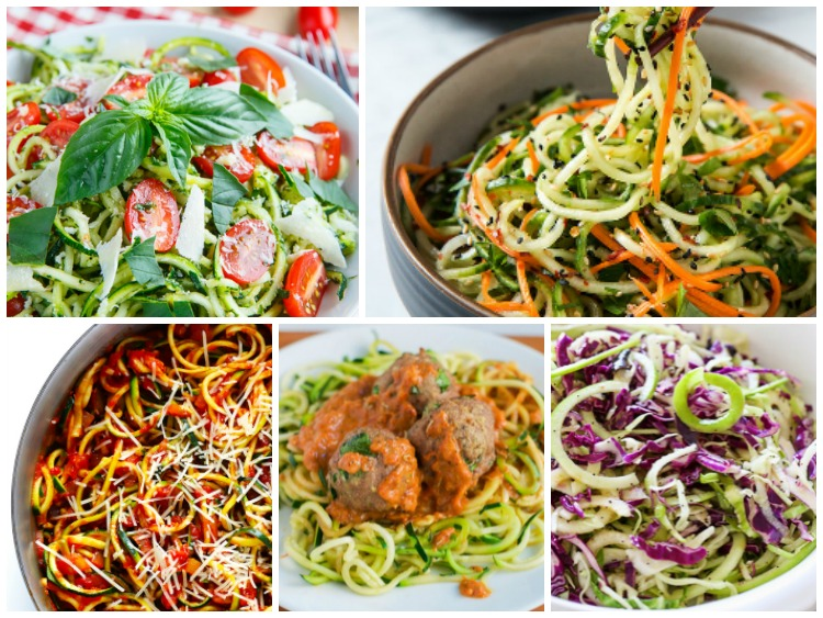 Spiralizer Recipes Weekly Meal Plan featured on Walking on Sunshine Recipes