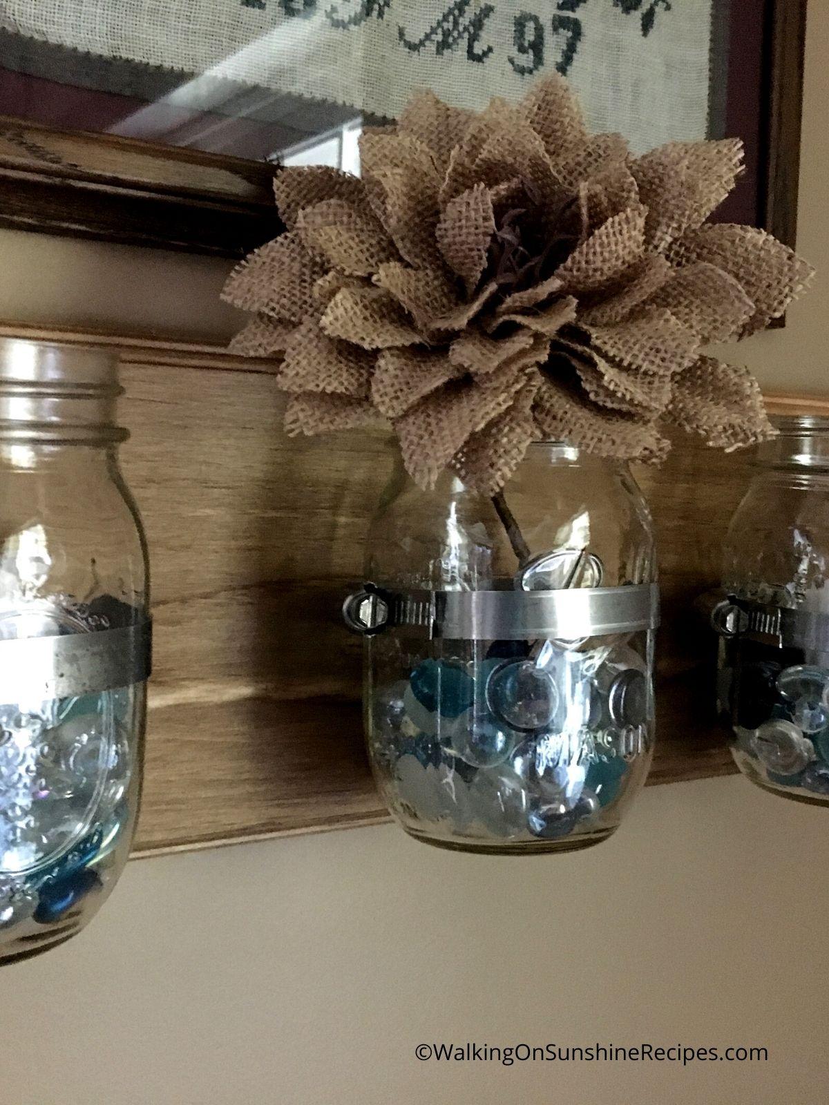 mason jar clamp for hanging.