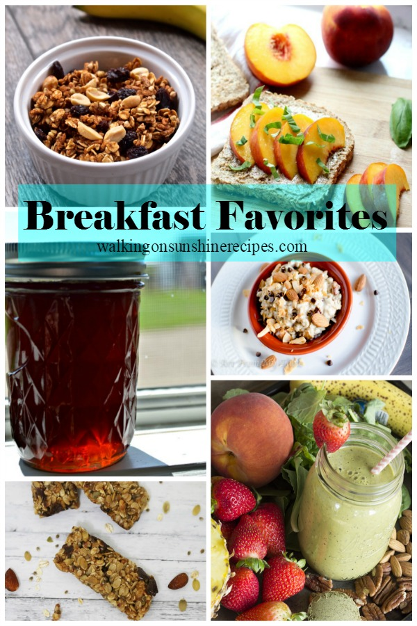 Breakfast Recipes and Foodie Friends Friday Linky Party #207.