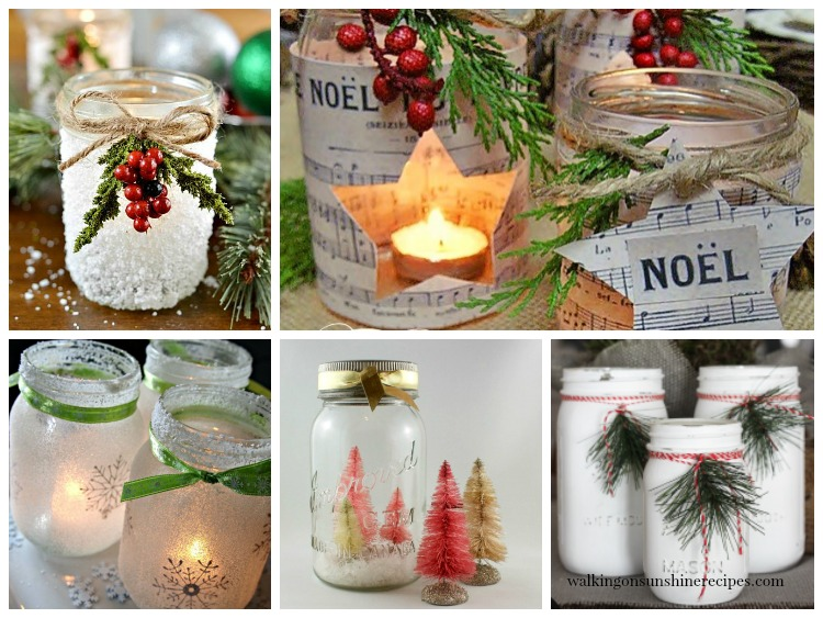 Crafts for Christmas using Mason Jars.