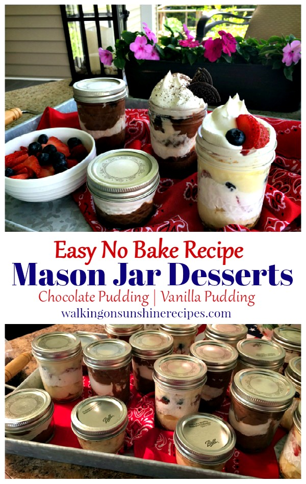 How to Make Delicious Easy No Bake Pudding Desserts in a Mason Jar.