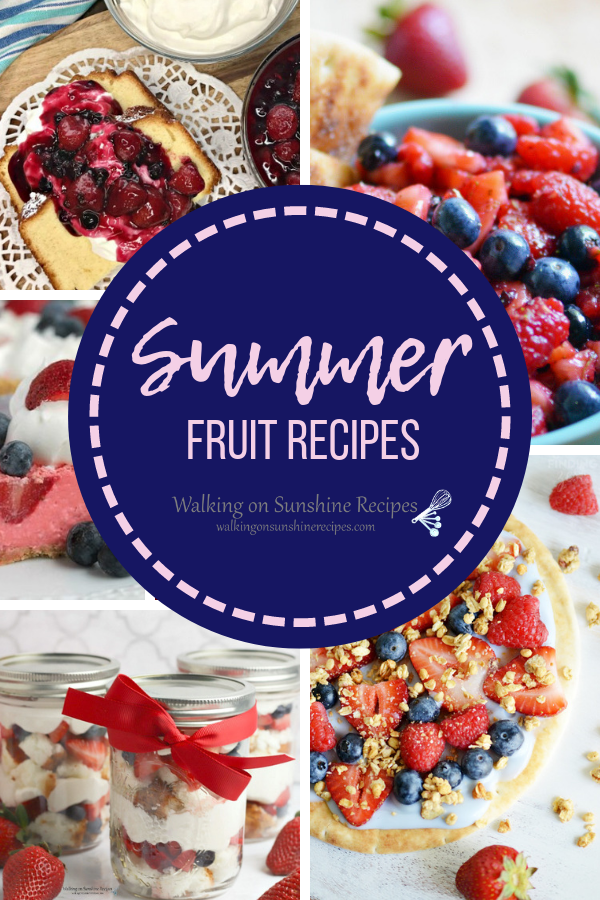 A collection of summer fruit recipes.