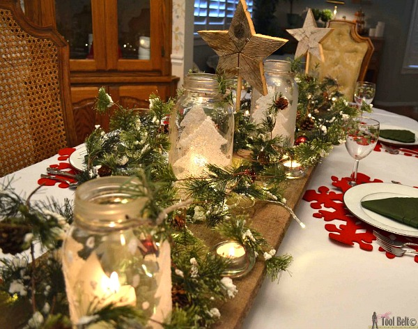 Mason Jar Tablescape