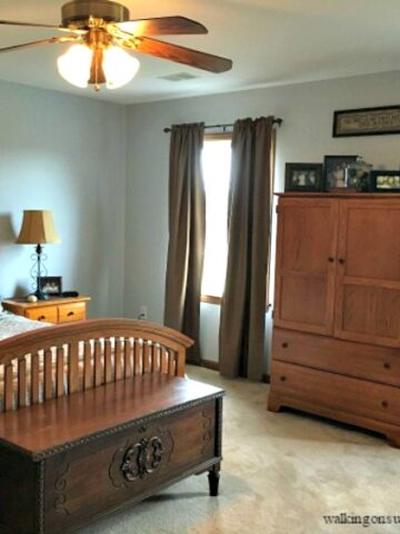 Master Bedroom Makeover with Painting Tips from Walking on Sunshine Recipes