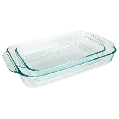 Basics Clear Oblong Glass Baking Dishes