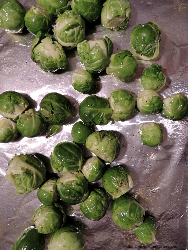 Place brussels sprouts on a baking tray and roast in the oven until tender!