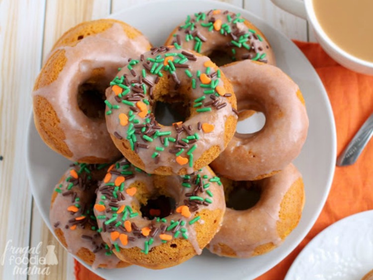 Cinnamon Glazed Donuts from Frugal Foodie Mama