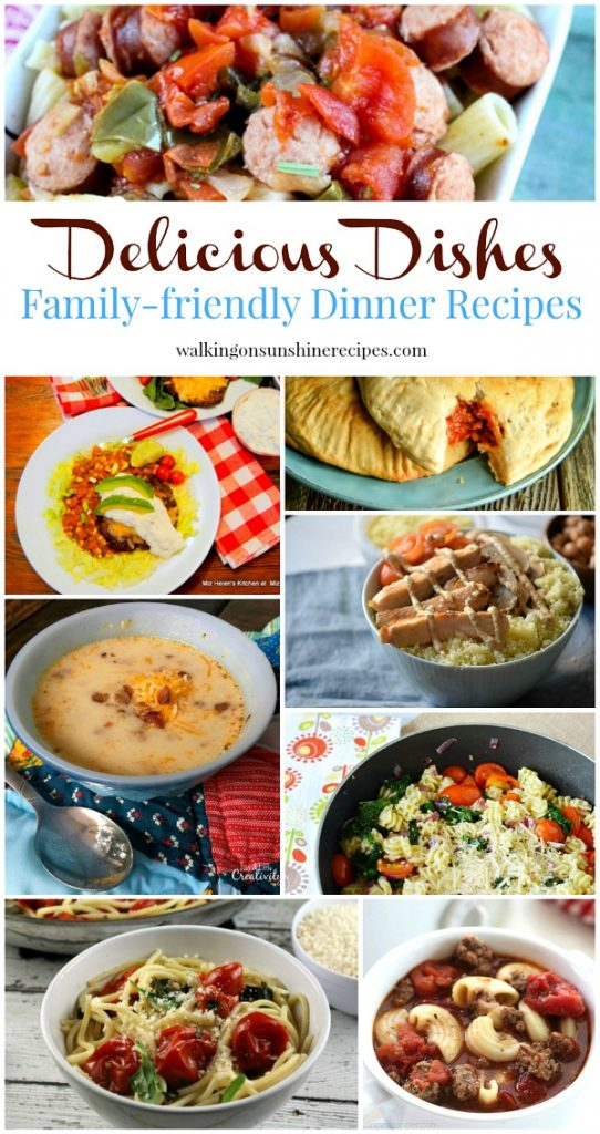 Family Friendly Dinner Recipes and our Delicious Dishes Recipe Party number 35 from Walking on Sunshine Recipes.
