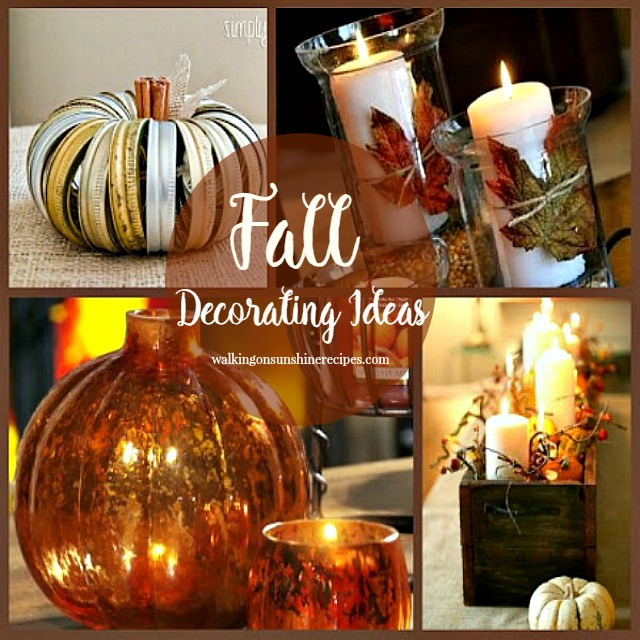 Fall and Pumpkin Decorating Ideas from Walking on Sunshine Recipes.