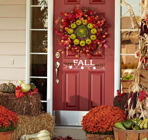 Beautiful and easy ideas to decorate for fall on a budget from Walking on Sunshine Recipes.