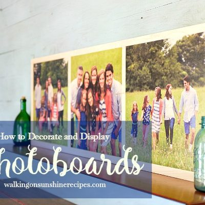 How to Decorate and Display Photoboards