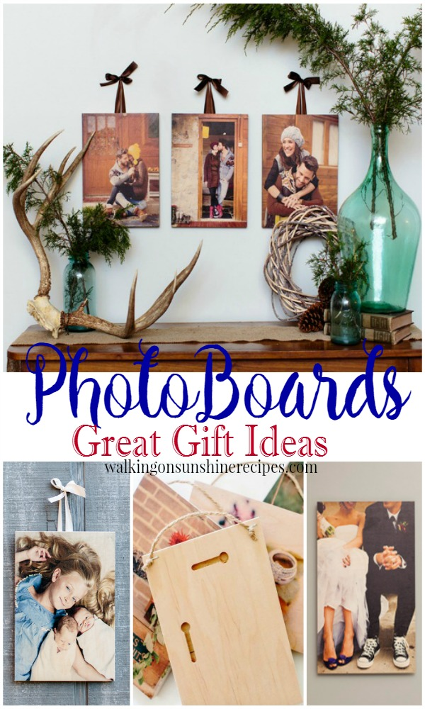 Photoboards make great gifts and it's not too soon to start thinking of the holiday season with these great ideas from Walking on Sunshine Recipes.