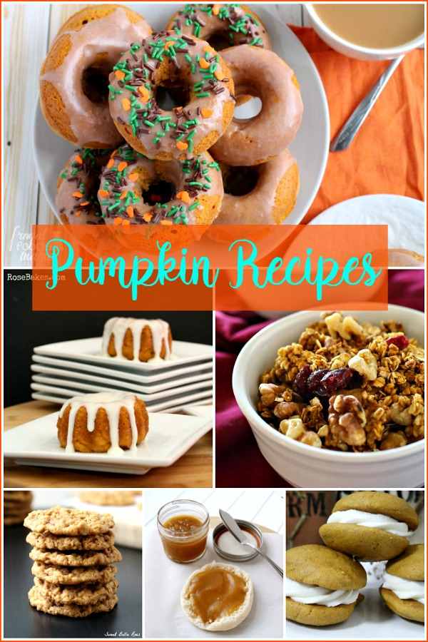 Pumpkin Recipes from our Foodie Friends featured on Walking on Sunshine Recipes