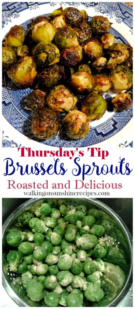 How to make easy and delicious roasted brussels sprouts from Walking on Sunshine Recipes.