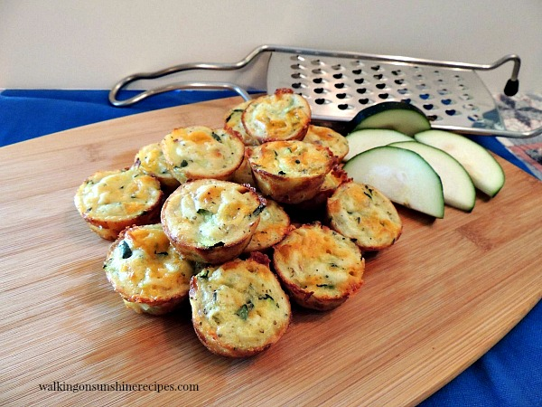 Easy and delicious zucchini puffs from Walking on Sunshine Recipes.