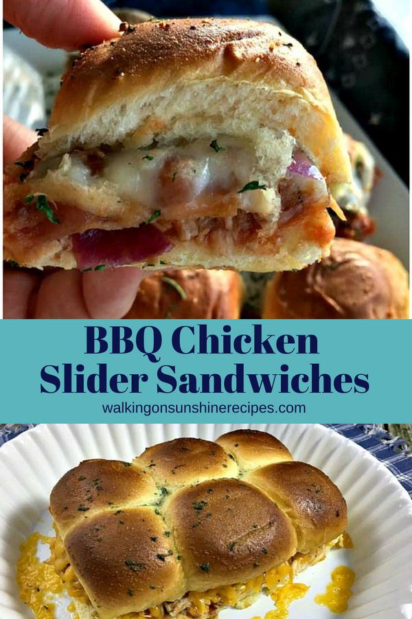 BBQ Chicken Slider Sandwiches from Walking on Sunshine Recipes