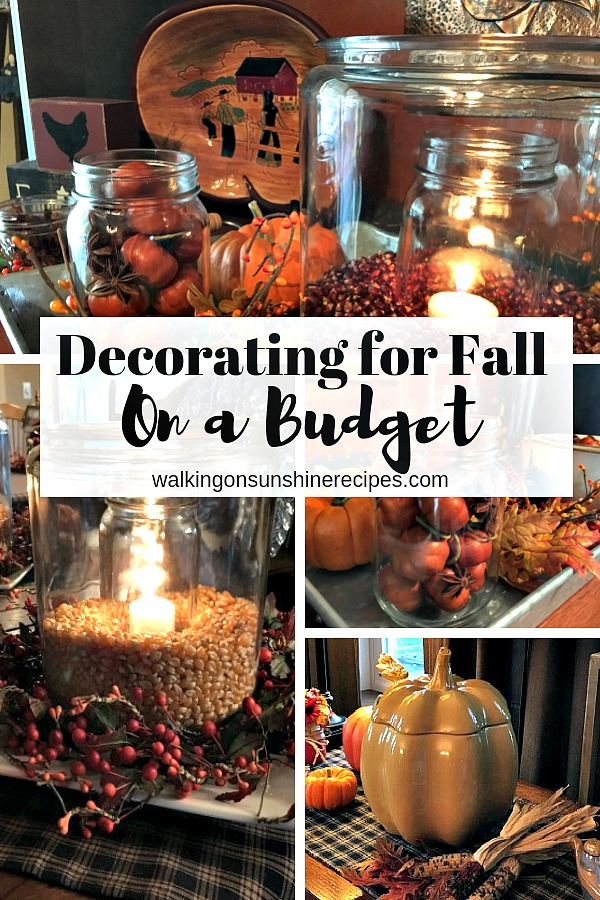 Decorating for Fall on a Budget.