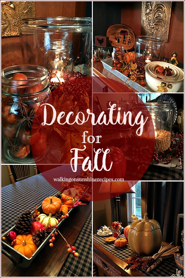 Decorating for Fall without Spending a lot of Money from Walking on Sunshine Recipes.