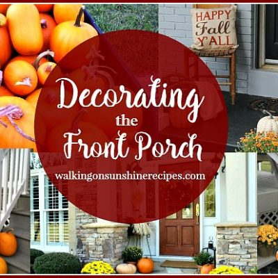 Front Porch Decorating to Welcome Guests