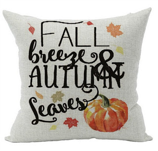 Fall Breeze and Leaves Pillow Cover featured on Walking on Sunshine.